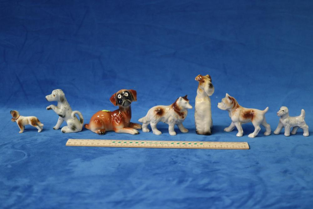 SELECTION OF CHINA DOG FIGURES