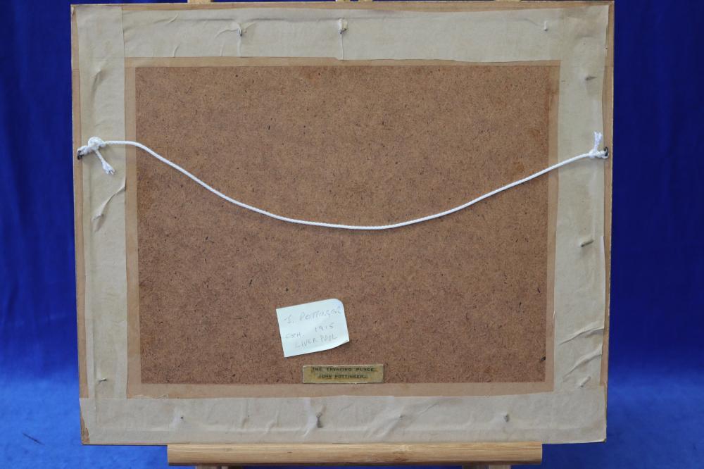 JOHN POTTINGER, THE TRYSTING PLACE, WATERCOLOUR ON PAPER, SIGNED LOWER LEFT, MEASURES 17CM X 24CM