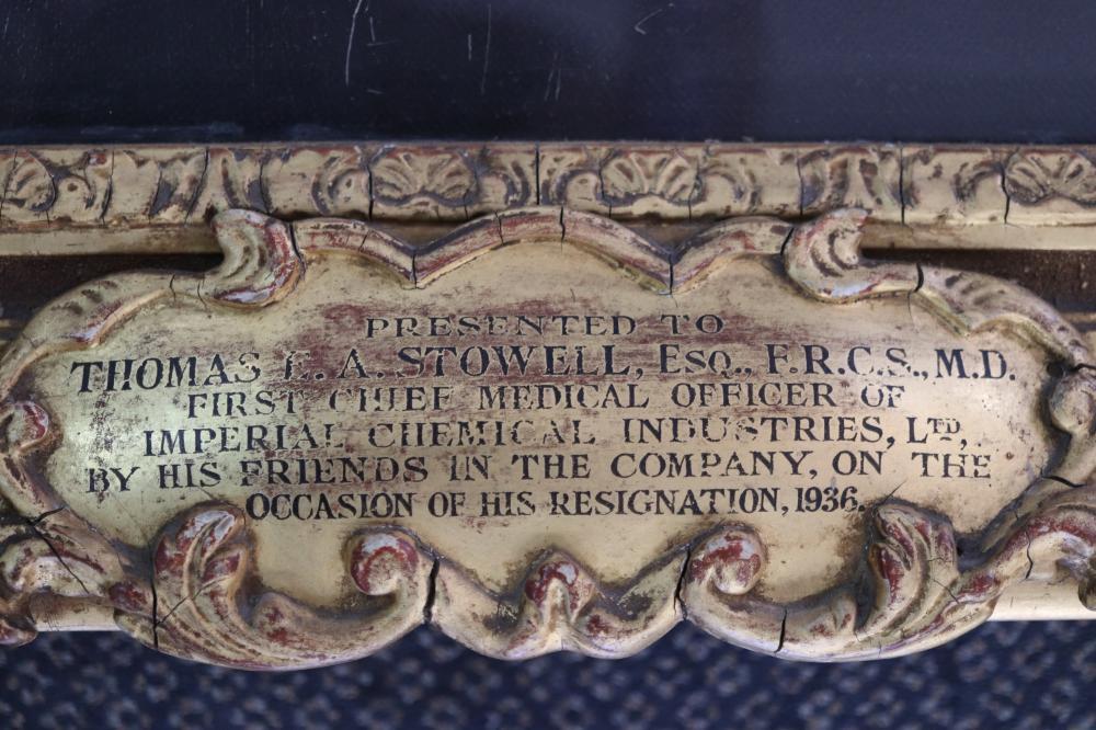 ERNEST MOORE (BRITISH 1865-1940) THOMAS EASTOWE, OIL ON CANVAS, SIGNED LOWER LEFT, MEASURES 100CM X 77CM