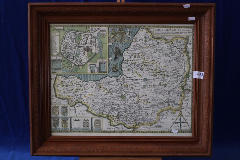 COUNTRY SOMERSET SHIRE FRAMED MAP