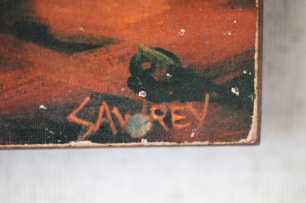 HUGH SAWREY EARLY FRAMED PRINT