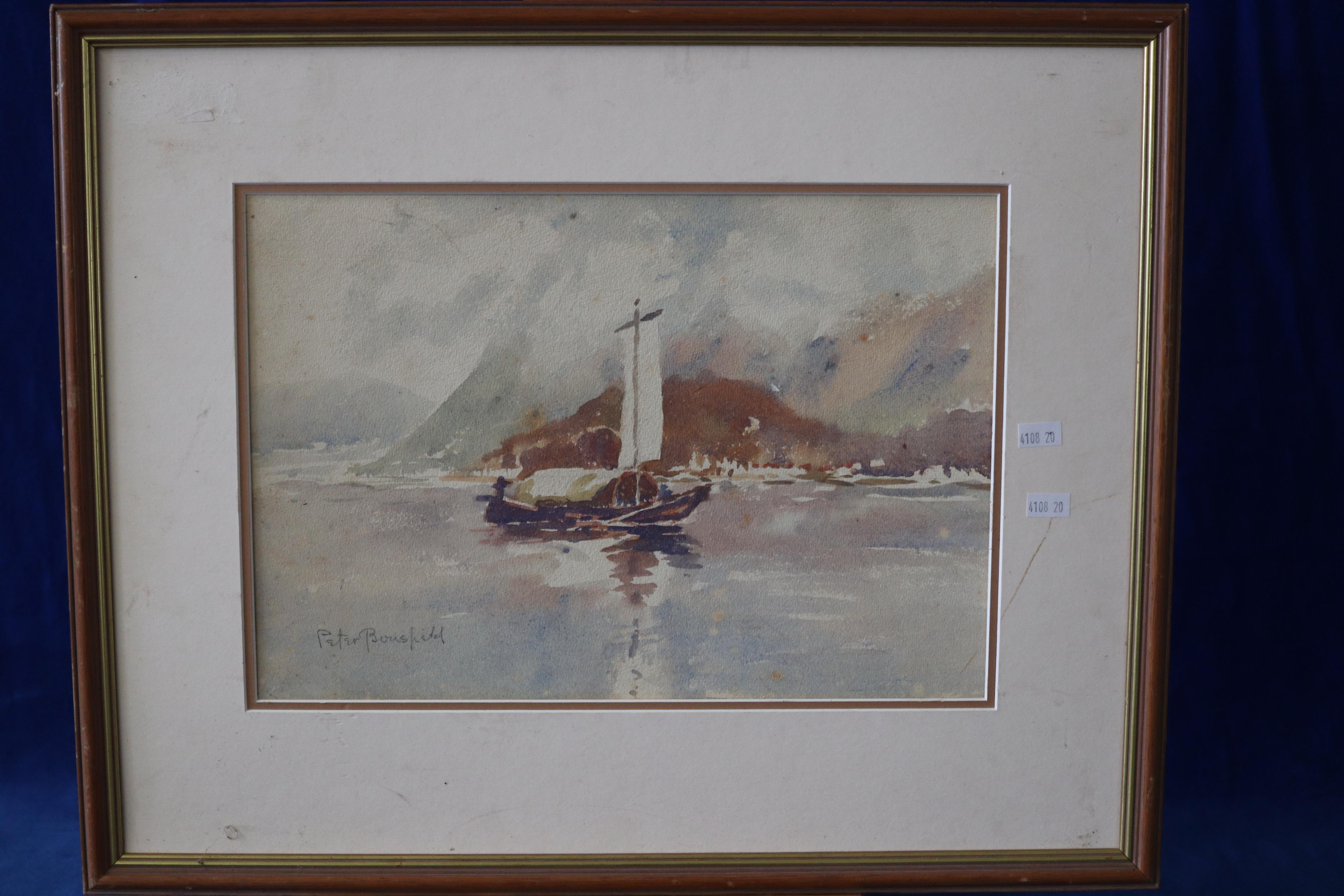 VINTAGE WATERCOLOUR BY PETER BOUSFIELD SYDNEY C. 1930