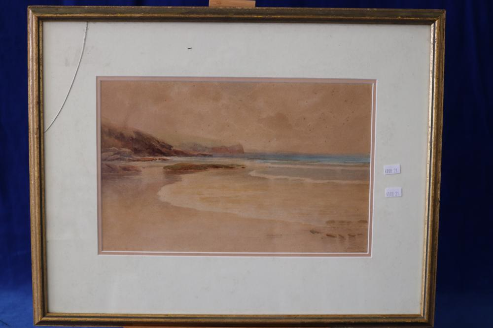 AUSTRALIAN WATERCOLOUR C. 1930 SIGNED COASTAL SCENE