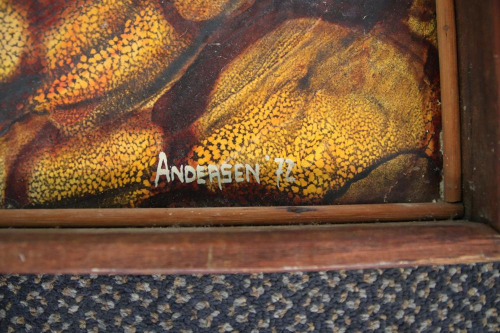 2 ABSTRACT PAINTINGS, 1 SIGNED ANDERSON 72