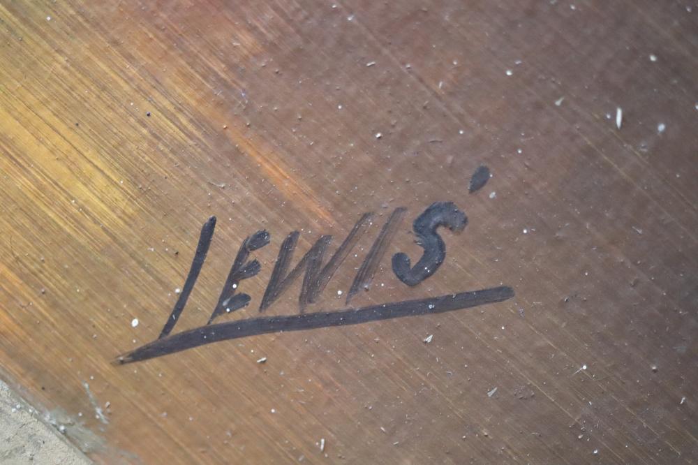 PAIR OF AUSTRALIAN OIL PAINTINGS C. 1920 BY LEWIS