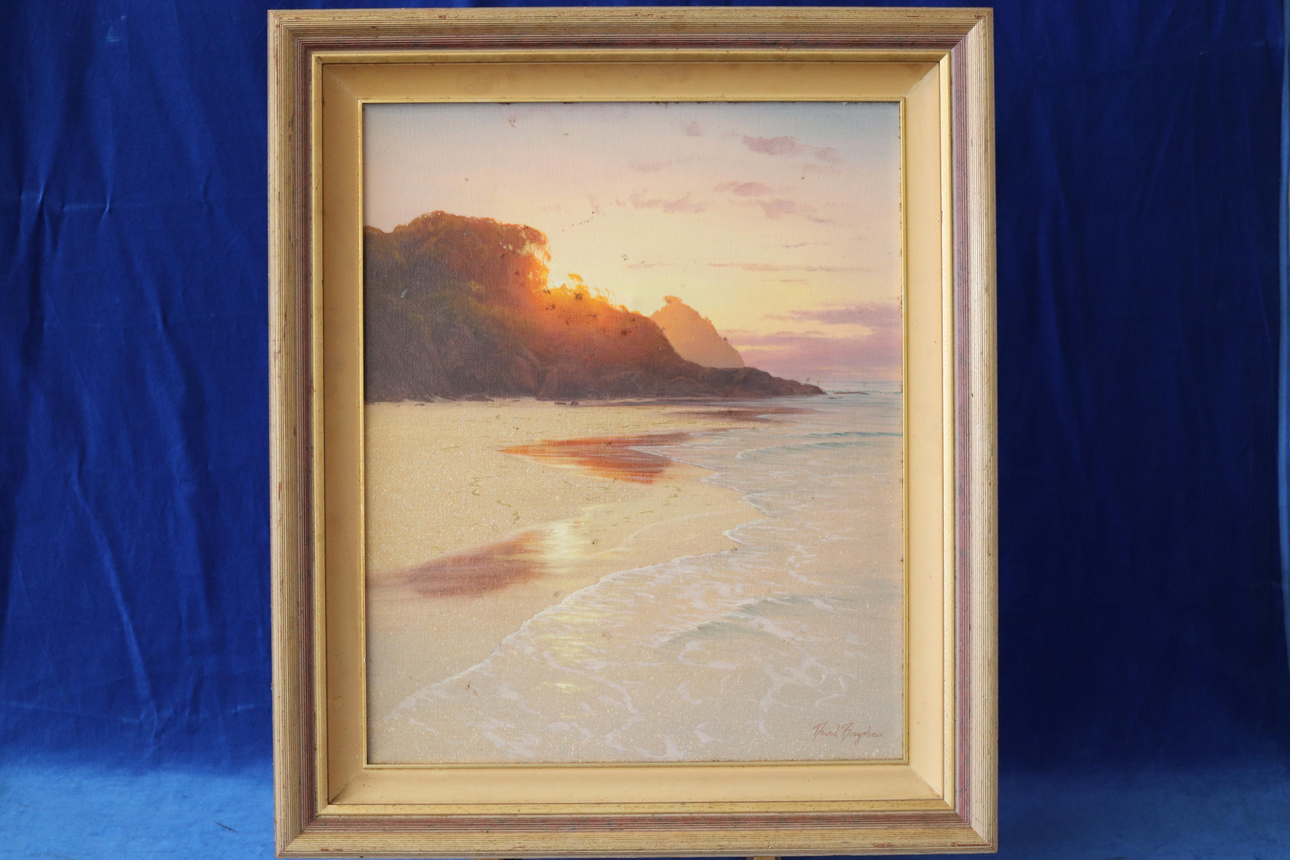 DAVID BRAYSHAW - LISTED AUSTRALIAN ARTIST - ORIGINAL LISTED ARTIST COASTAL SCENE (WIND FARMS - SHIPWRECK BEACH)