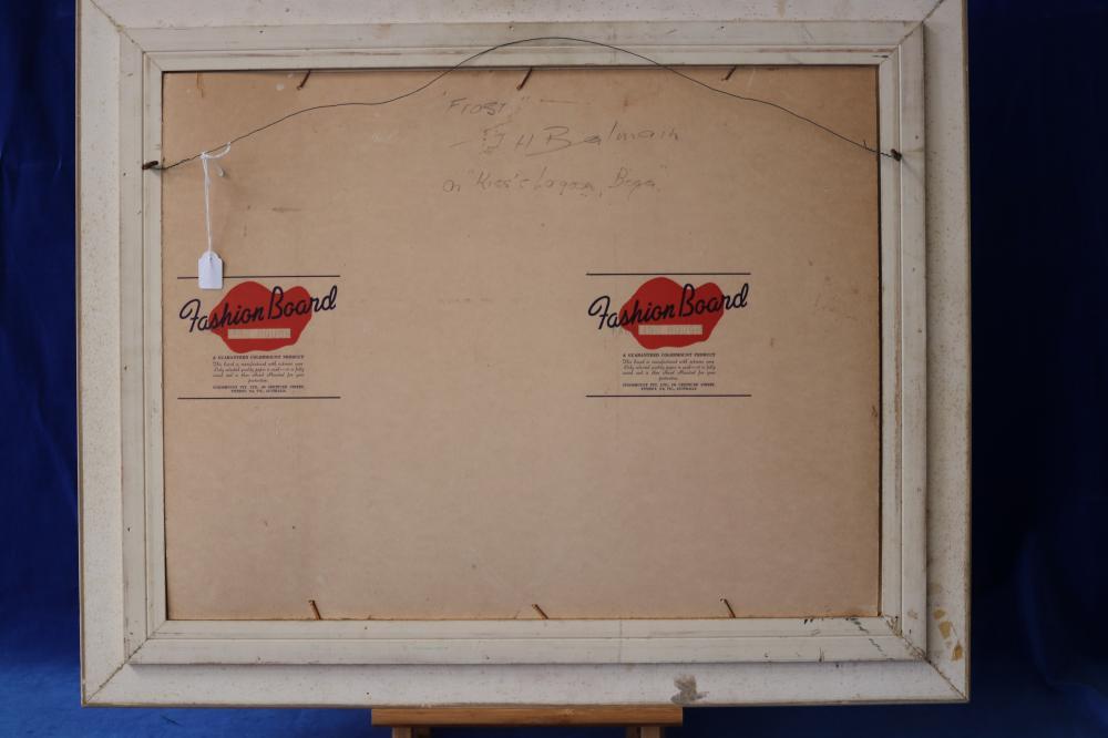 FRAMED SIGNED J.H. BALMAIN FROST ON KISS LAGOON, BEGA