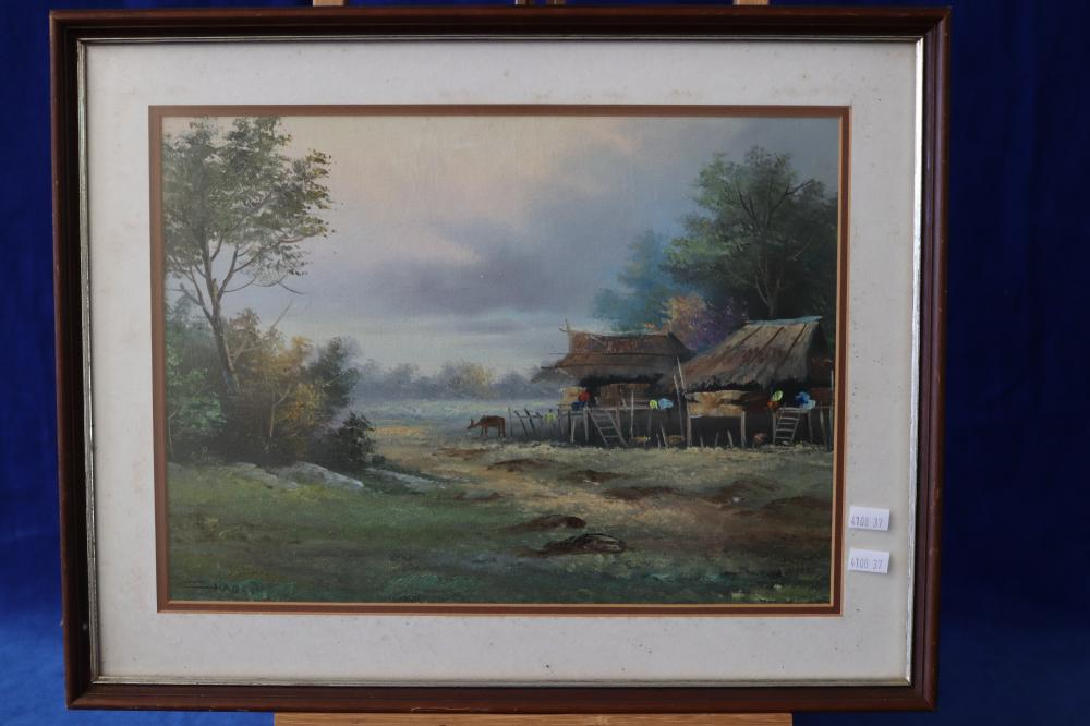 ASIAN OIL PAINTING - SIGNED CHAD