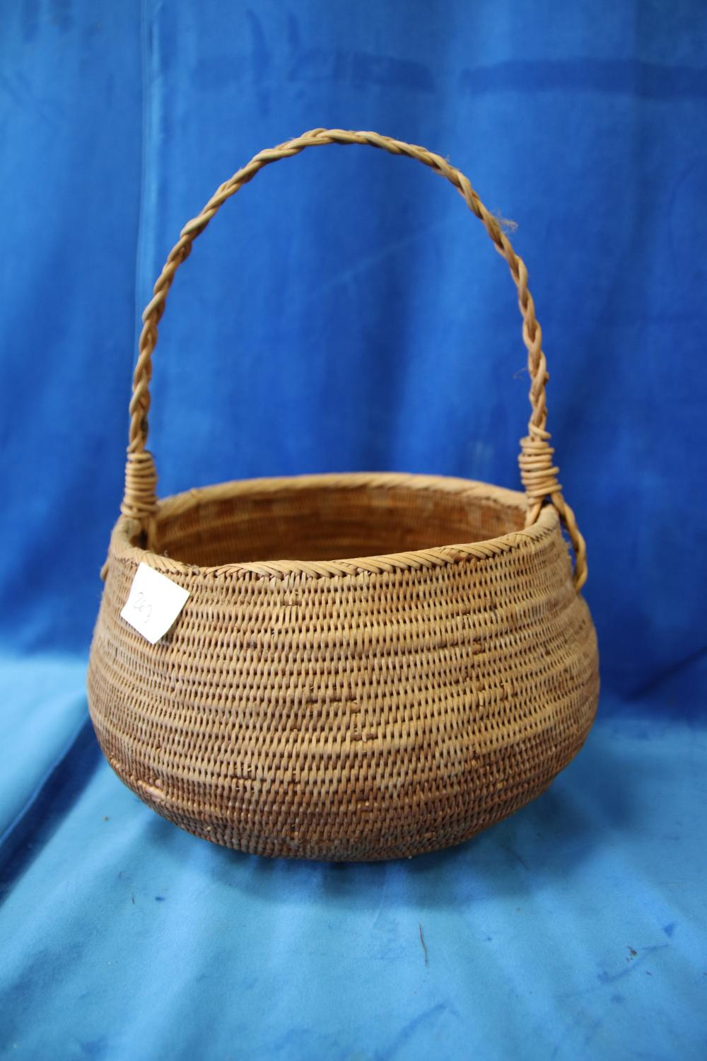 3 PNG WOVEN CANE BASKETS