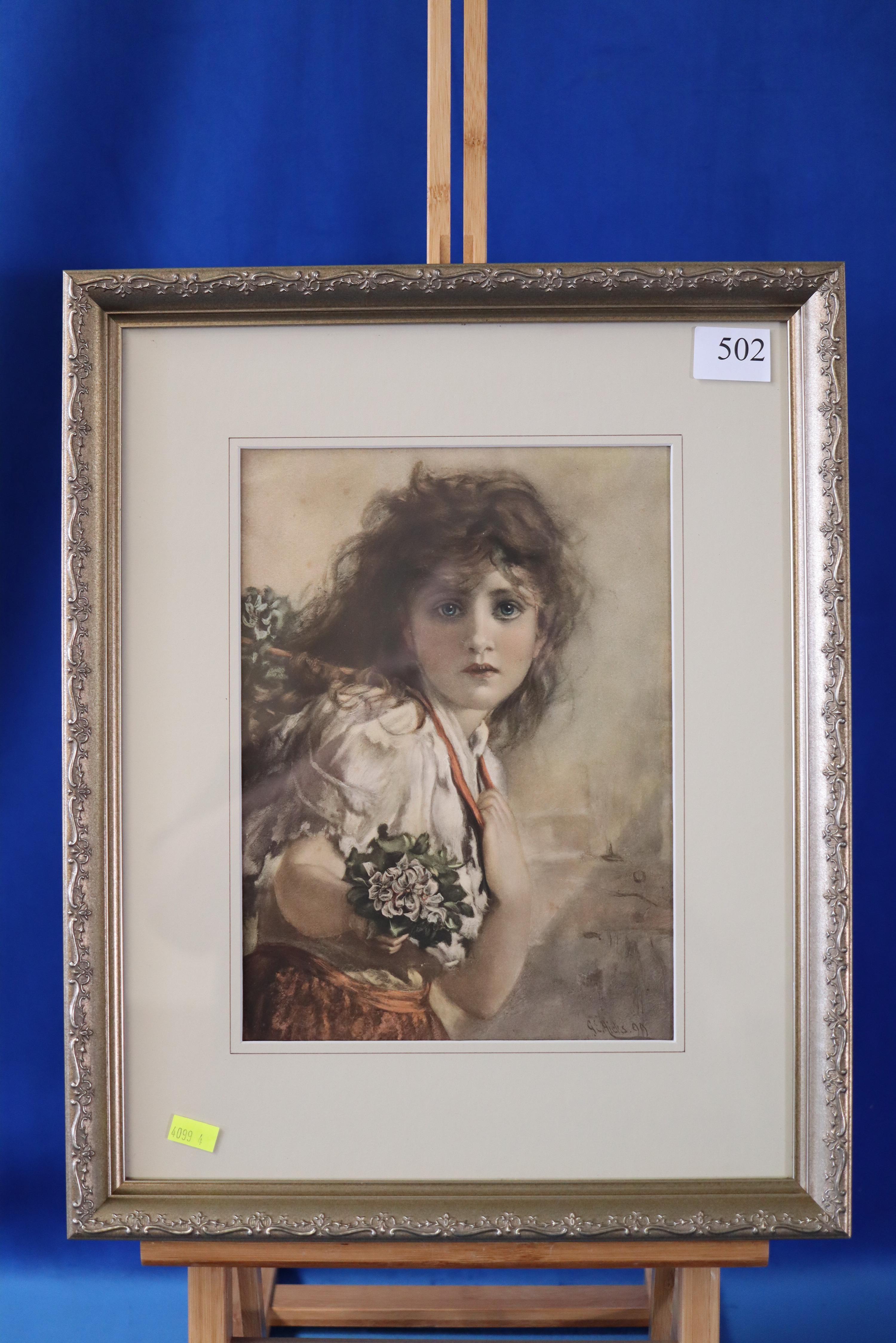 PRINT OF FLOWER SELLER 1899 GE AILES