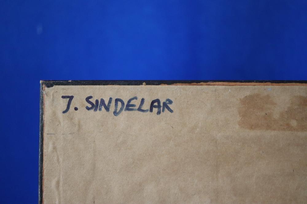 JOHN SINDELAR BREAK OF NEW DAY OIL ON CARD 42 CM X 30 CM