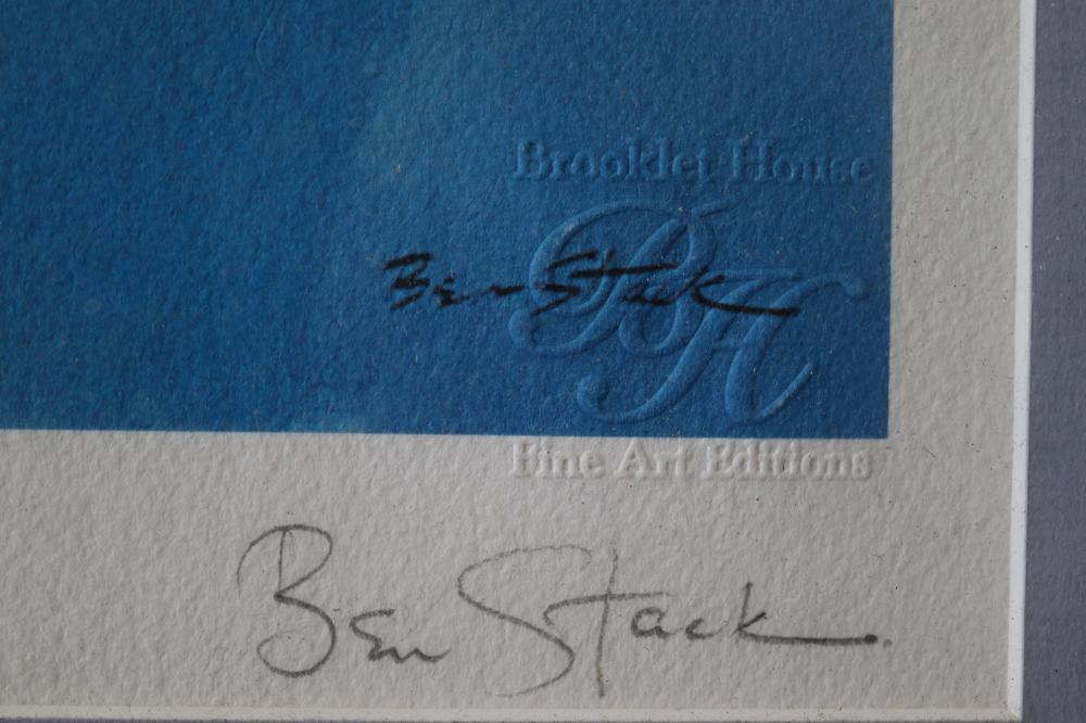 "BEN STACK PRINT NO 8/99 ""PHAGOH"" ABSTRACT SCENE"