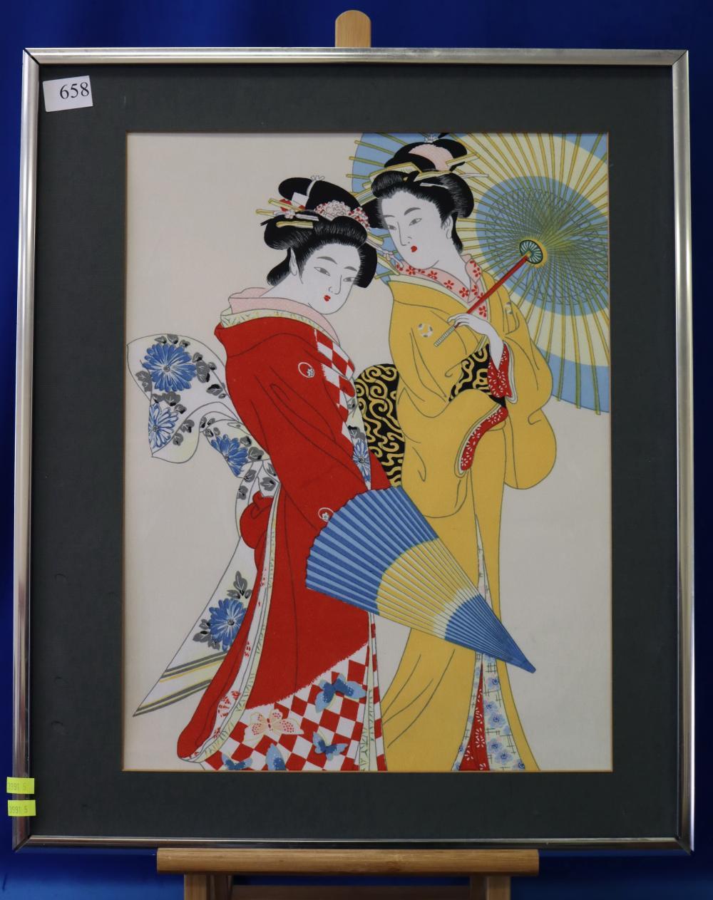 FRAMED THAI PRINT & FRAMED JAPANESE SILK PRINT