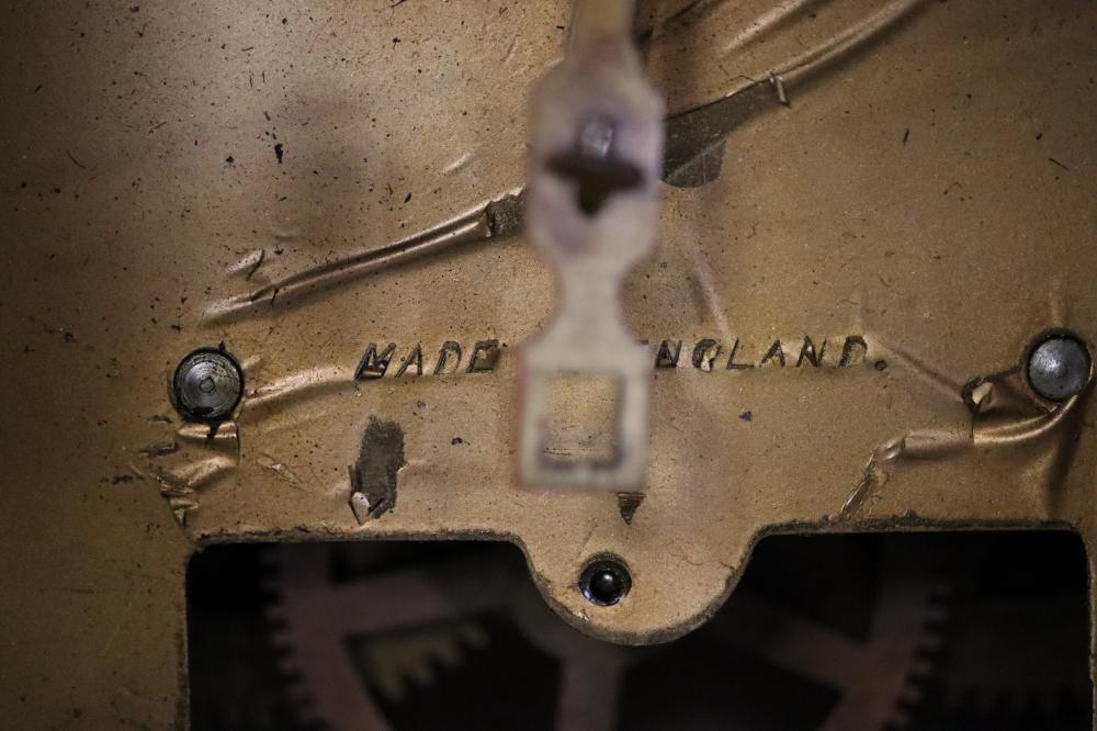 OAK GRANDDAUGHTER CLOCK AS FOUND
