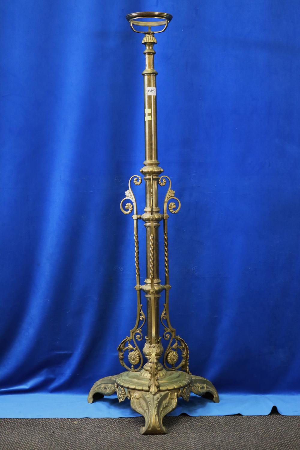 HEAVY BRASS STAND/LAMP BASE