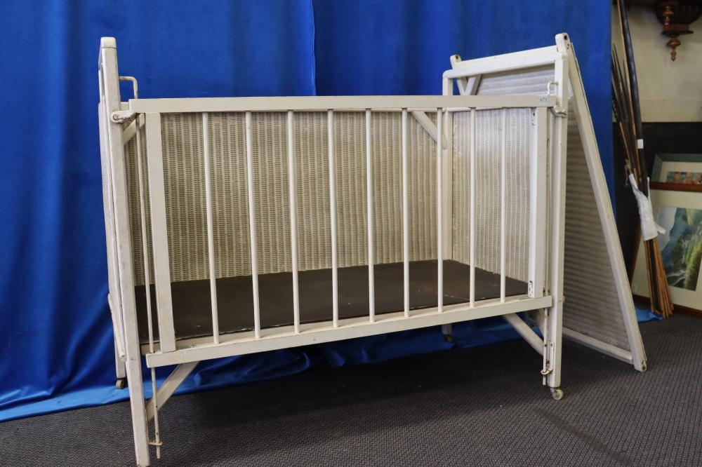 CANE & TIMBER DOLLS COT