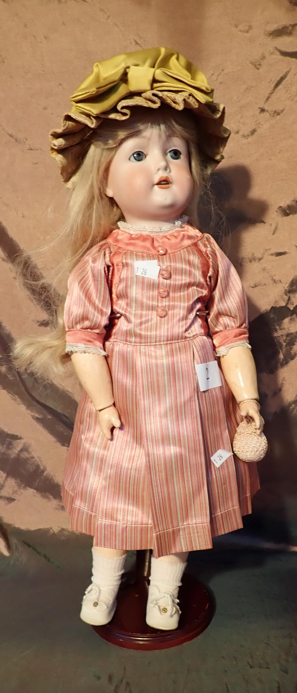 """21"""" CM BERGMANN WALTERSHOUSEN 1916 GERMANY 5 DOLL - OVERALL GOOD CONDITION WITH PETTICOAT AND PANTALOONS - NICELY DRESSED"""