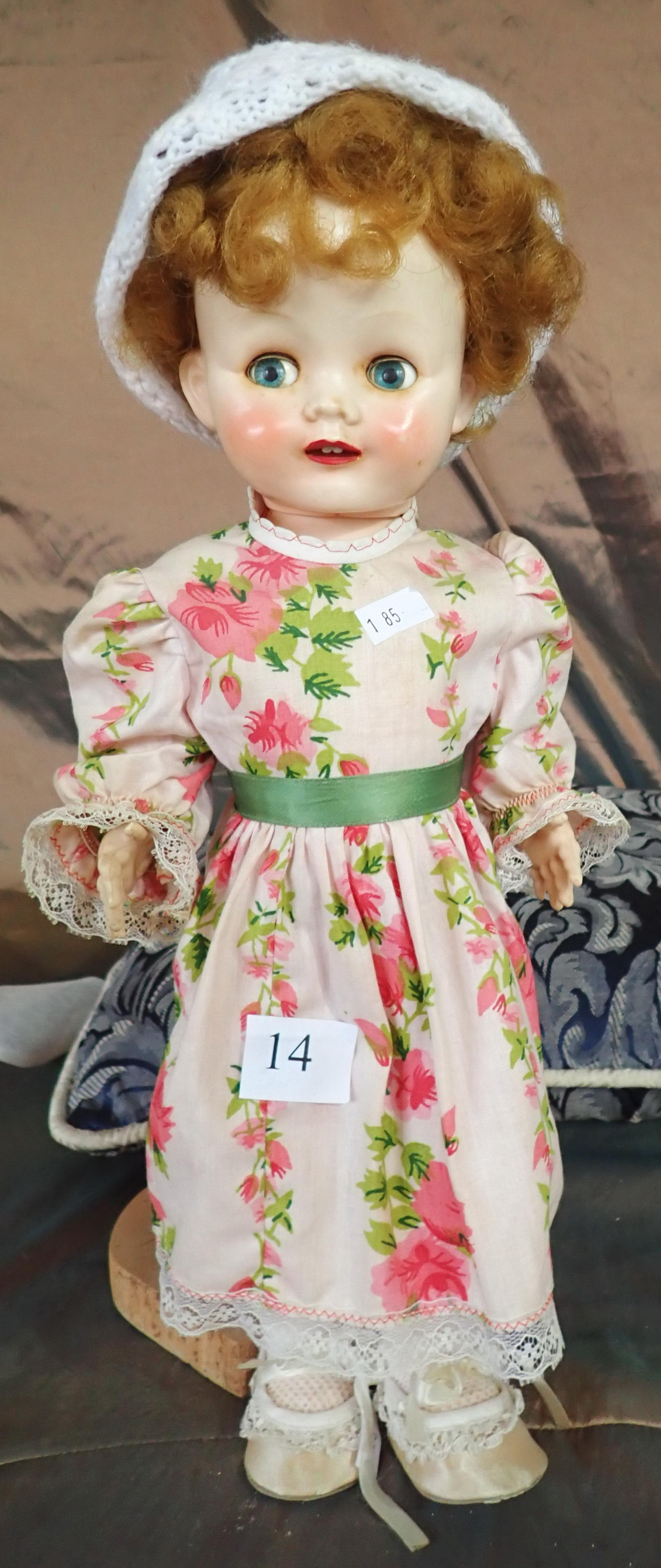 """PEDIGREE 16"""" WALKER DOLL WITH SPEAKER TO BACK A/F IN ORIGINAL CONDITION"""