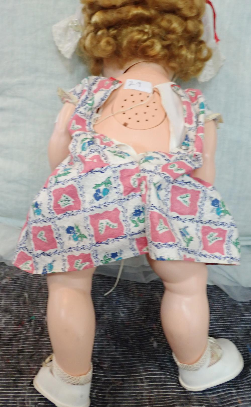 """VINTAGE 20"""" HIGH PEDIGREE DOLL PAINTED, MADE IN ENGLAND FEATURES OPEN AND CLOSE BLUE EYES, VOICE BOX A/F, HARD PLASTIC, GOOD ORIGINAL DOLL BY KENNER"""