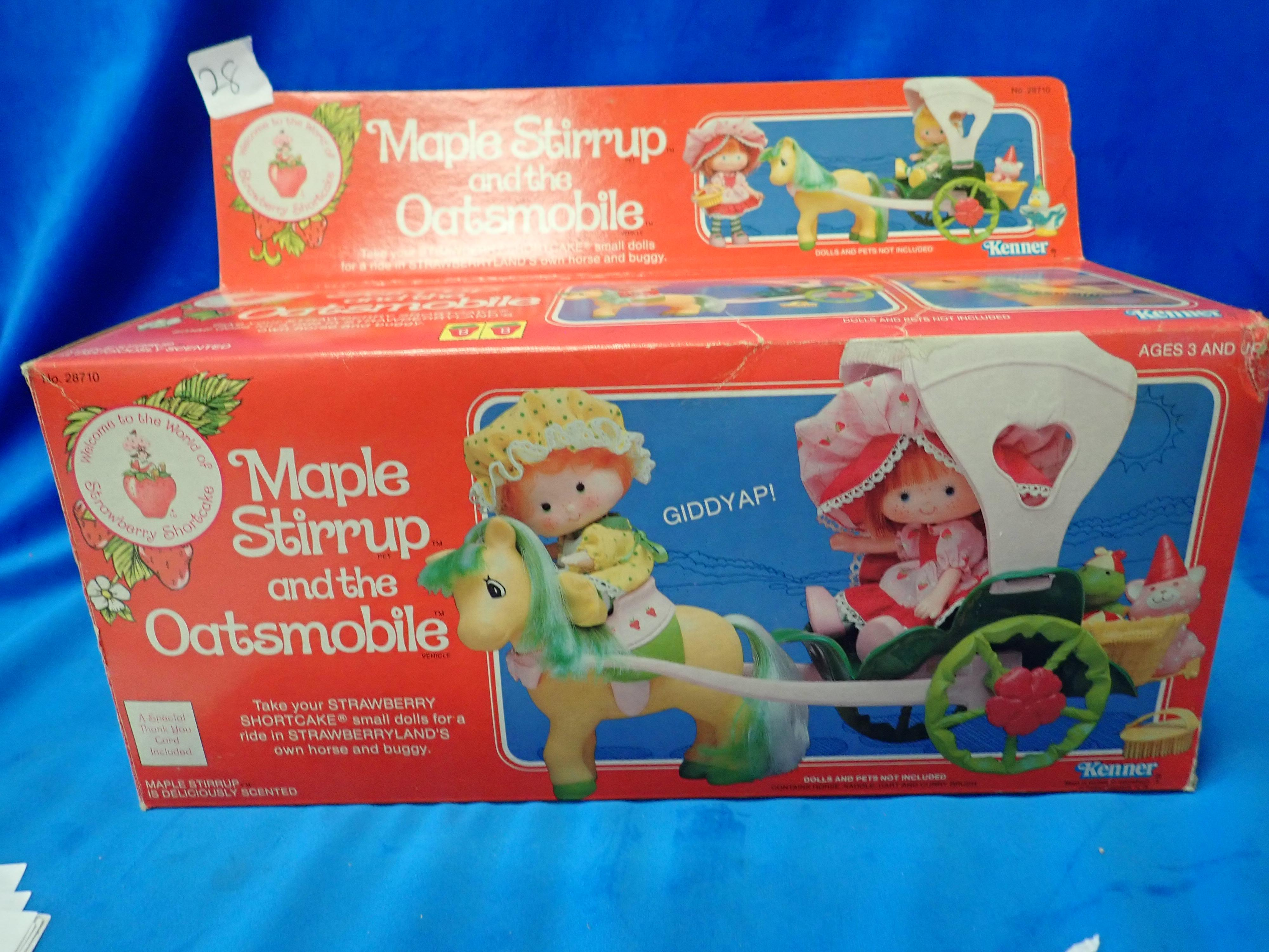 RARE MAPLE STIRRUP AND THE OATSMOBILE 28710 DOLLS HORSE & BUGGY BY KENNER IN ORIGINAL PACK, NEVER PLAYED WITH
