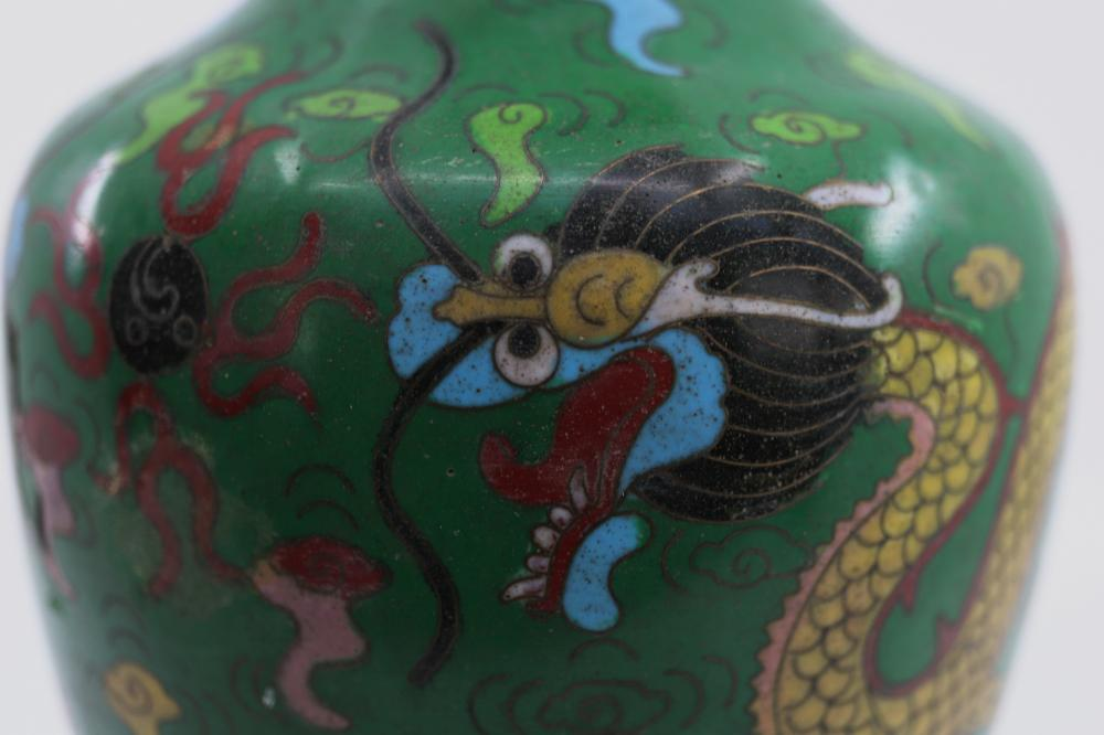 CLOISONNE VASE CHINESE DRAGONS ETC C1930'S