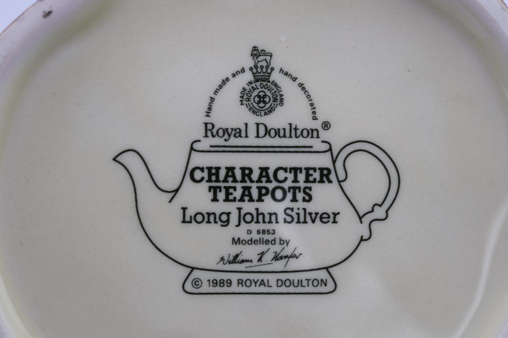 PAIR OF ROYAL DOULTON CHARACTER TEAPOTS
