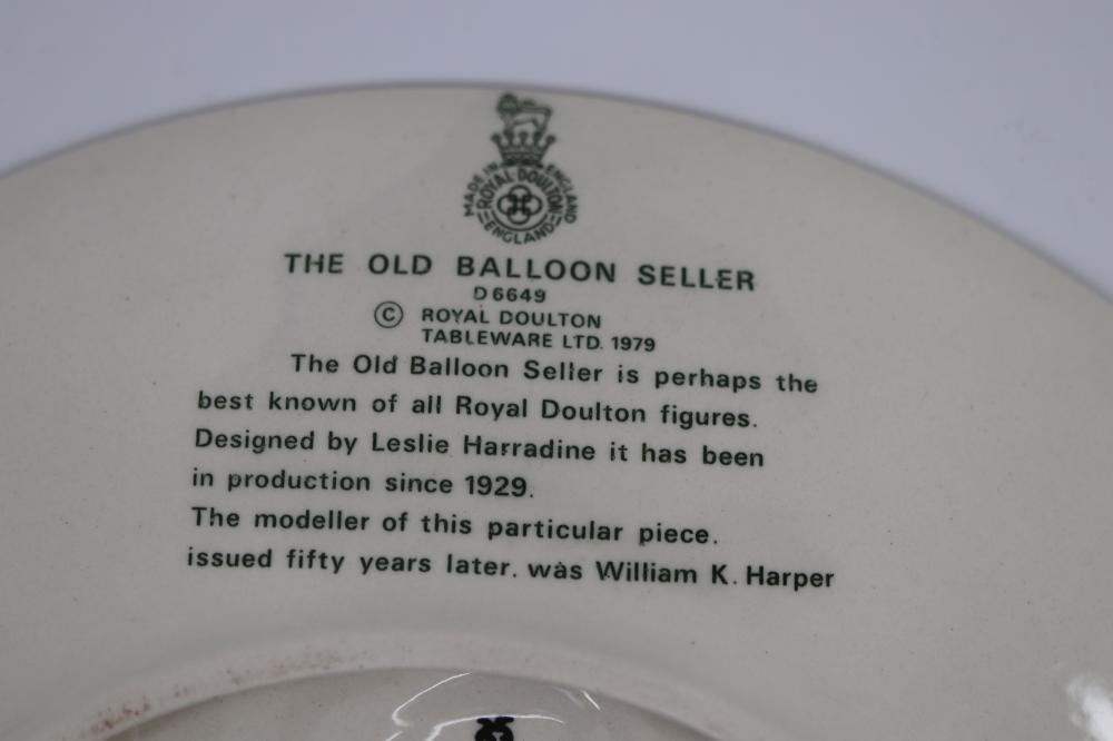 ROYAL DOULTON OLD BALLOON SELLER PLATE 1979