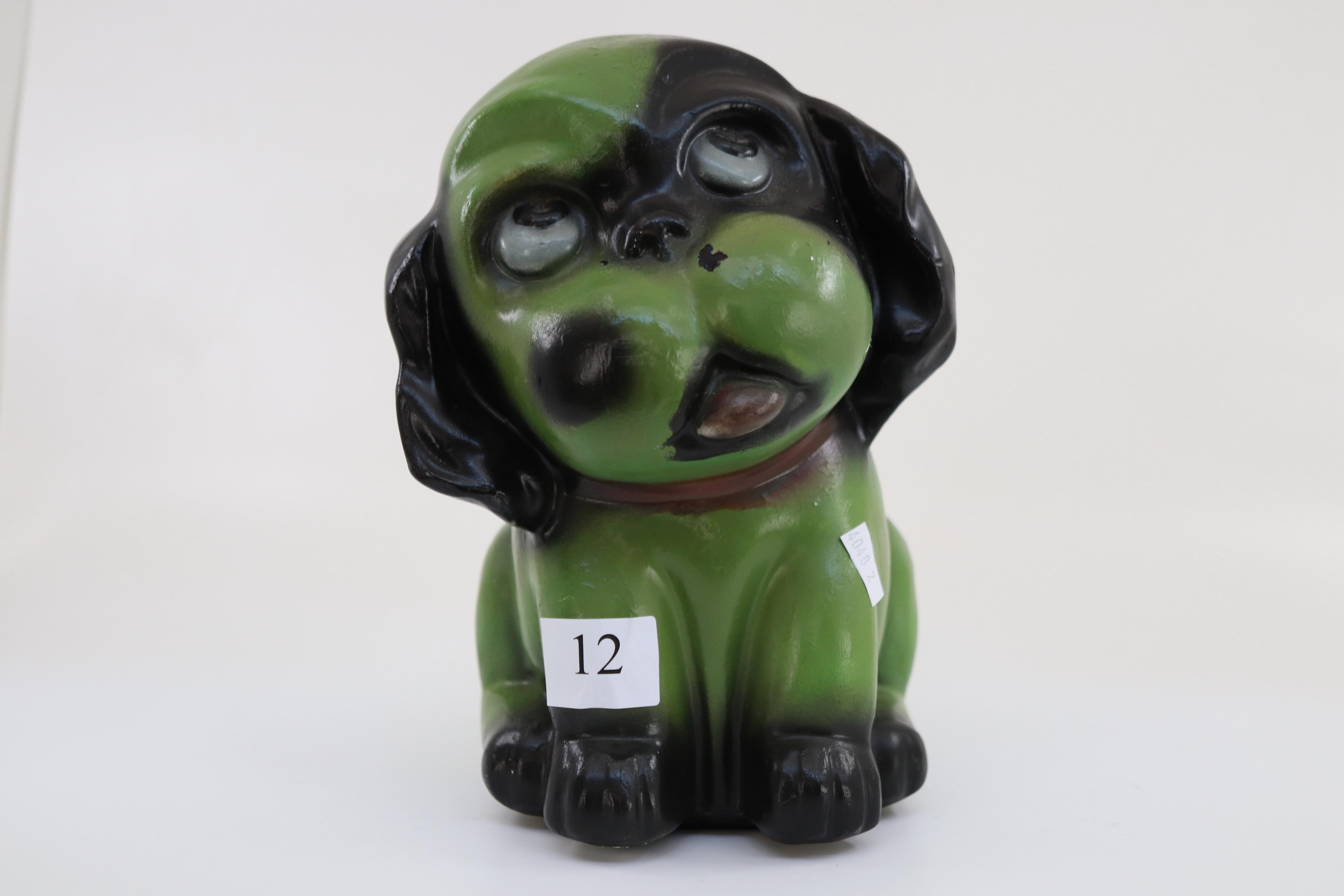 LARGE ADORABLE BONZO CERAMIC DOG FIGURE INCISE NUMBER 336 ( APPROX 24 CM TALL X16CM WIDE C18CM DEEP)