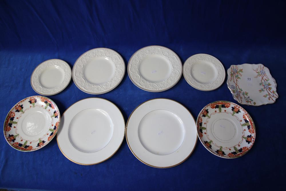 9 X ASSORTED ENGLISH PORCELAIN PLATES (SOME DAMAGES)