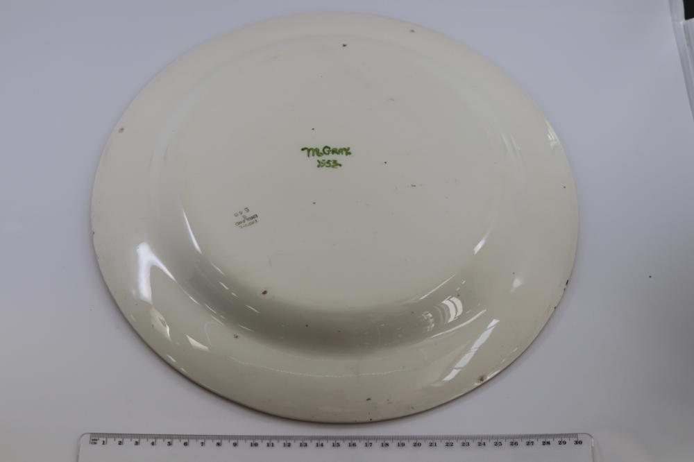 HAND PAINTED ENGLISH MADE CHARGER SIGNED M GRAY