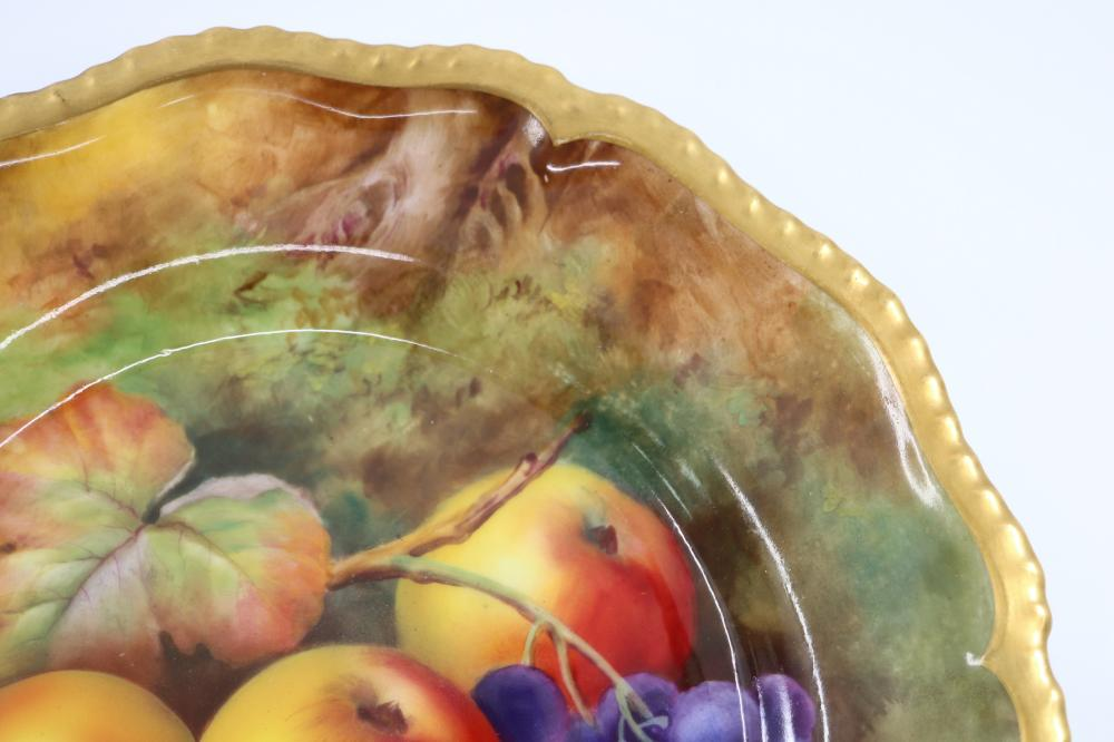 ROYAL WORCESTER CABINET PLATE SIGNED H PRICE HAND PAINTED FRUIT SCENE