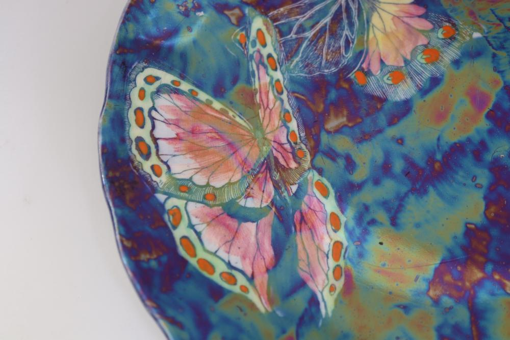 MADE IN ENGLAND 5309 BUTTERFLY LUSTRE WARE PLATE