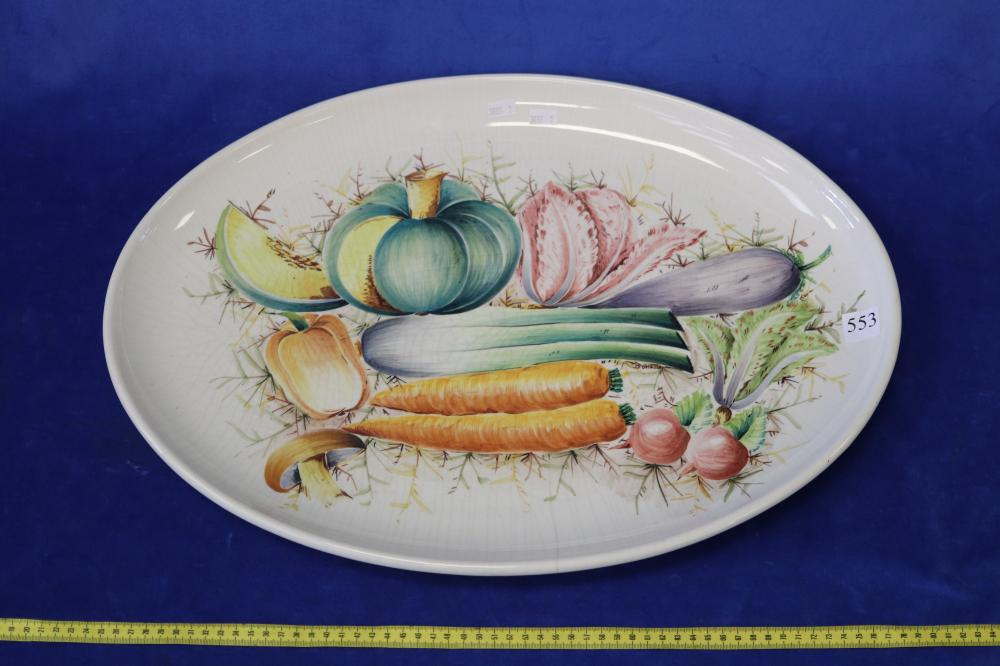 LARGE ITALIAN HAND PAINTED PLATTER