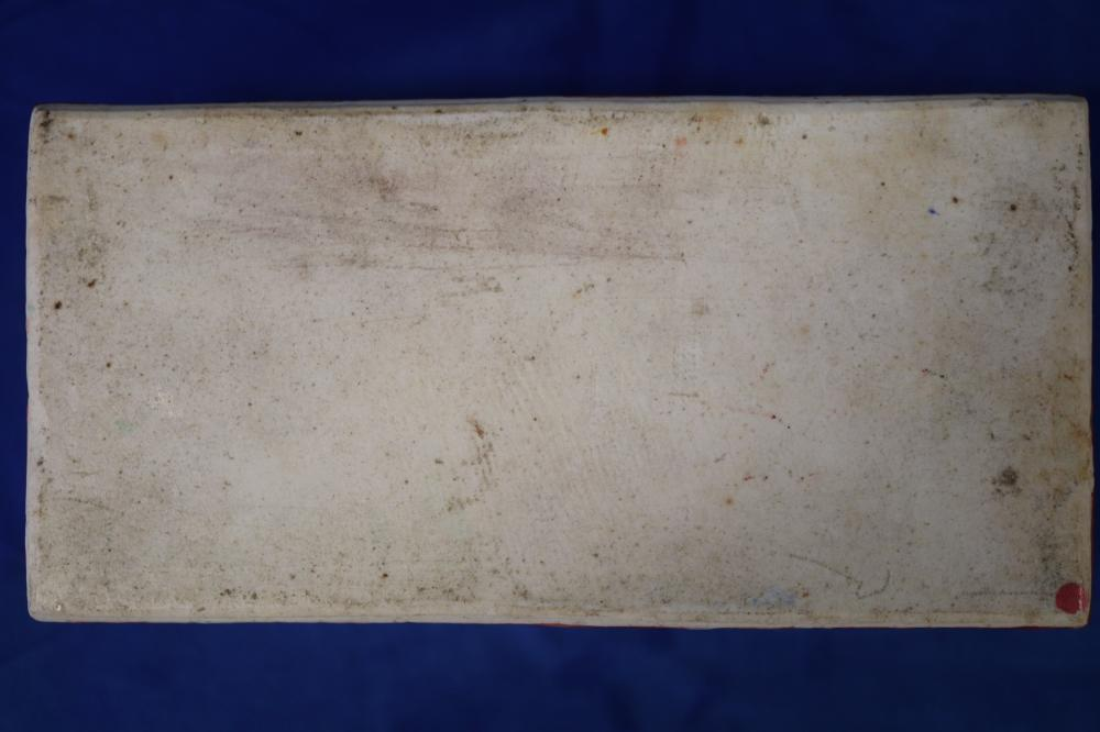ANTIQUE SMALL CHINESE PORCELAIN LIDDED BOX, HAND PAINTED ROSE MANDARIN PATTERN, 20CM W X 10CM D X 8CM H,