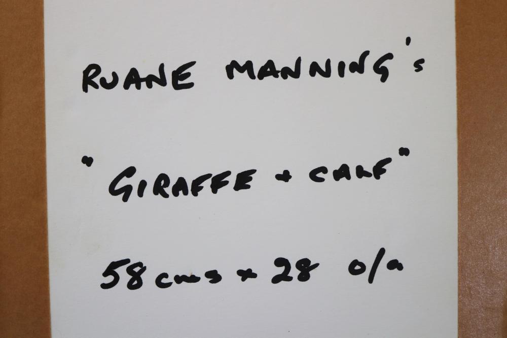 GIRAFFE AND CALF PRINT BY FAMED US ARTIST RUANE MANNING