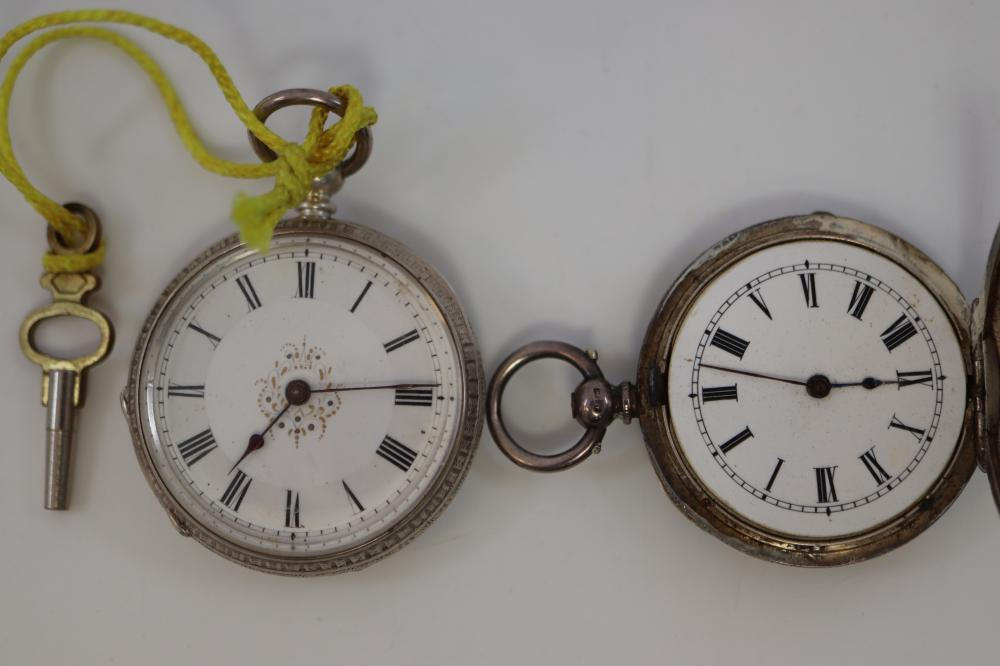 2 STERLING SILVER POCKET WATCHES