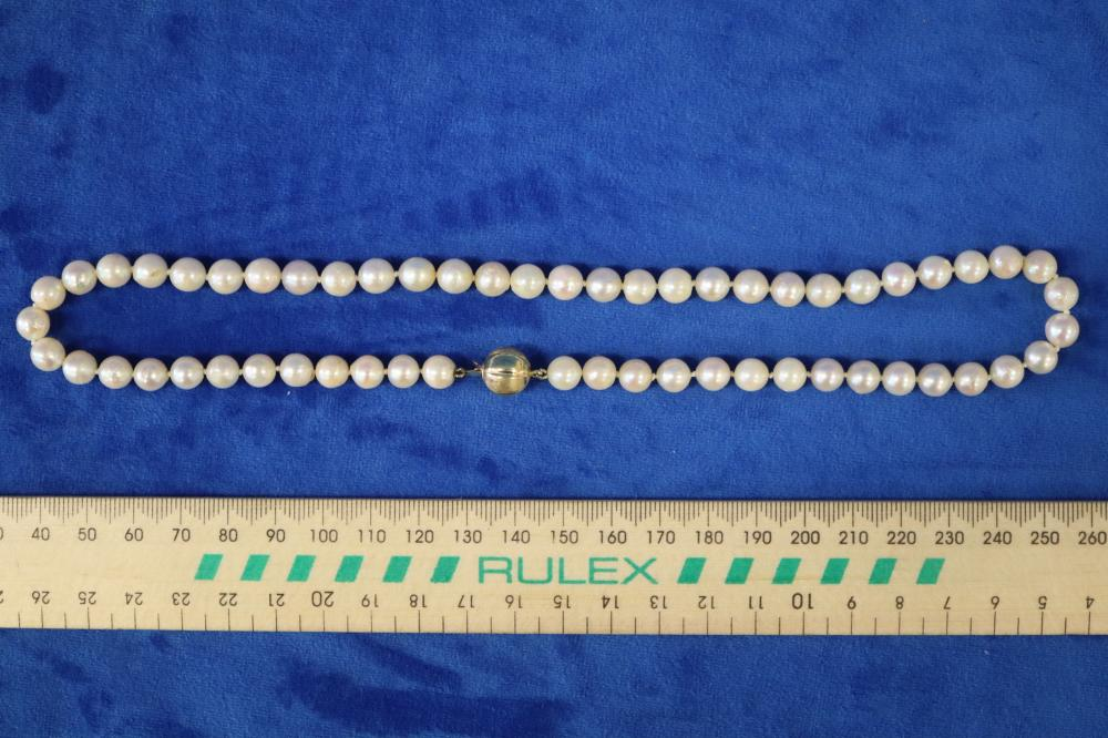 STRAND OF PEARLS 9CT GOLD CLASP