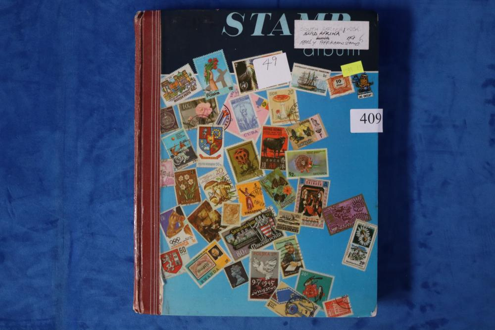 STAMP ALBUM OF SOUTH AFRICAN & EARLY AFRIKAANS STAMPS
