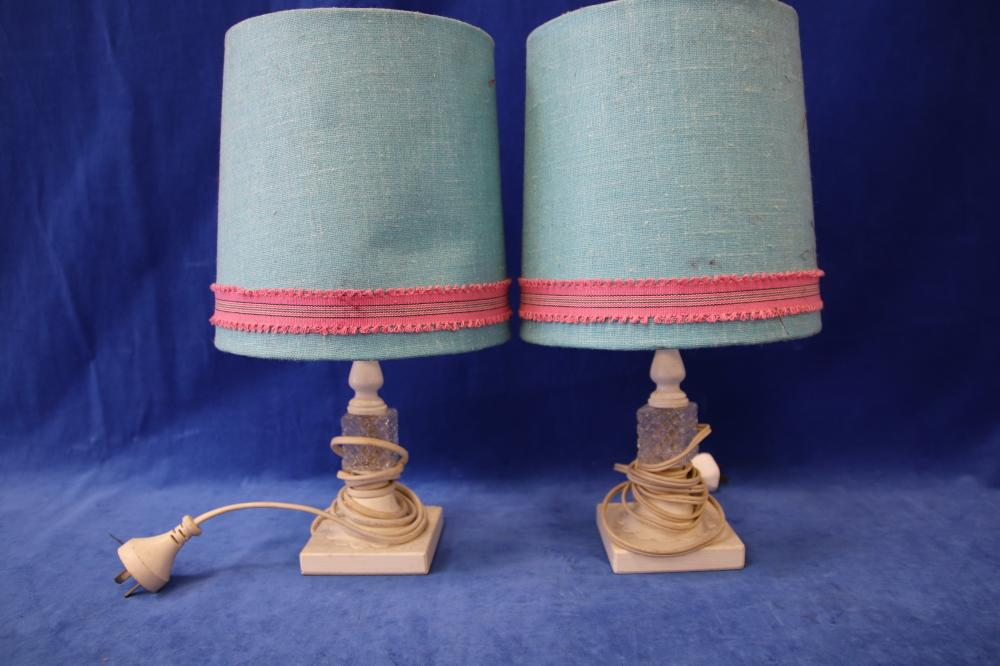 2 KIDS TABLE LAMPS & A BUNNY LAMP