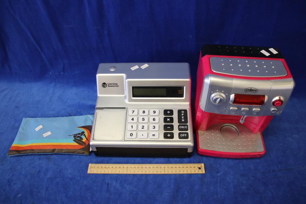 KIDS CASH REGISTER & COFFEE MACHINE