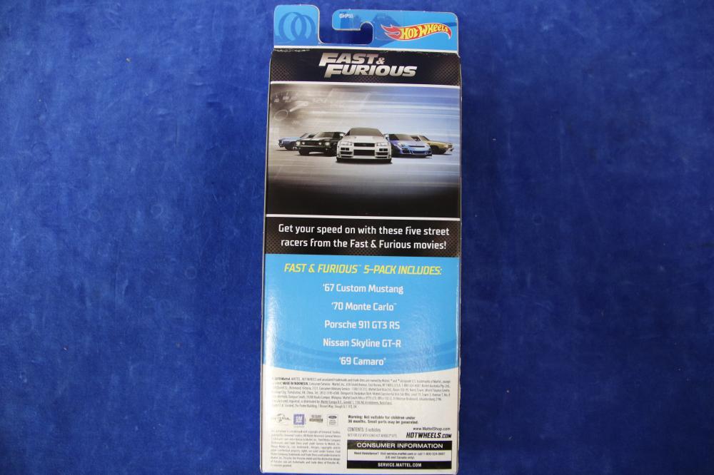 HOTWHEELS FAST & FURIOUS 5 PACK OF MODEL CARS