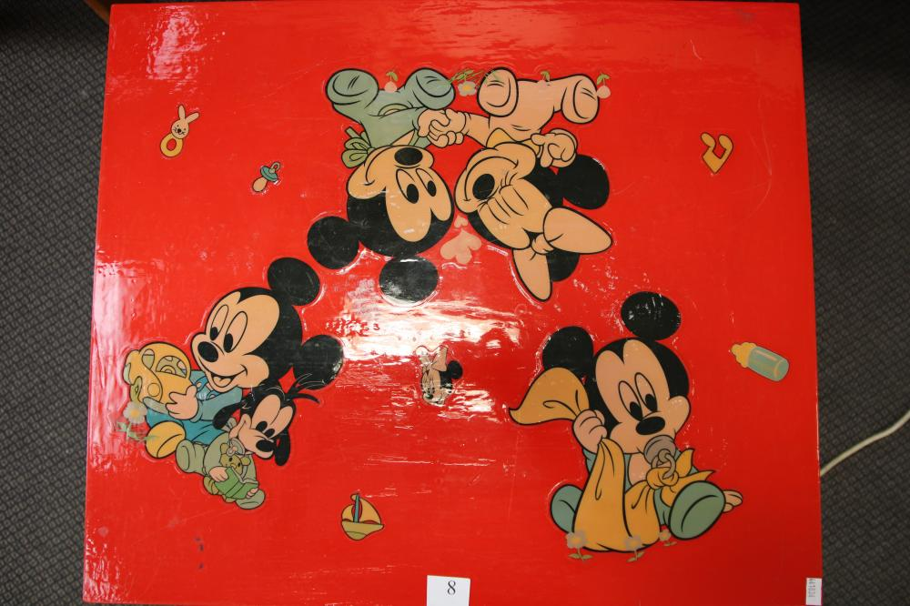 MICKEY MOUSE CHILDRENS TABLE & CHAIRS