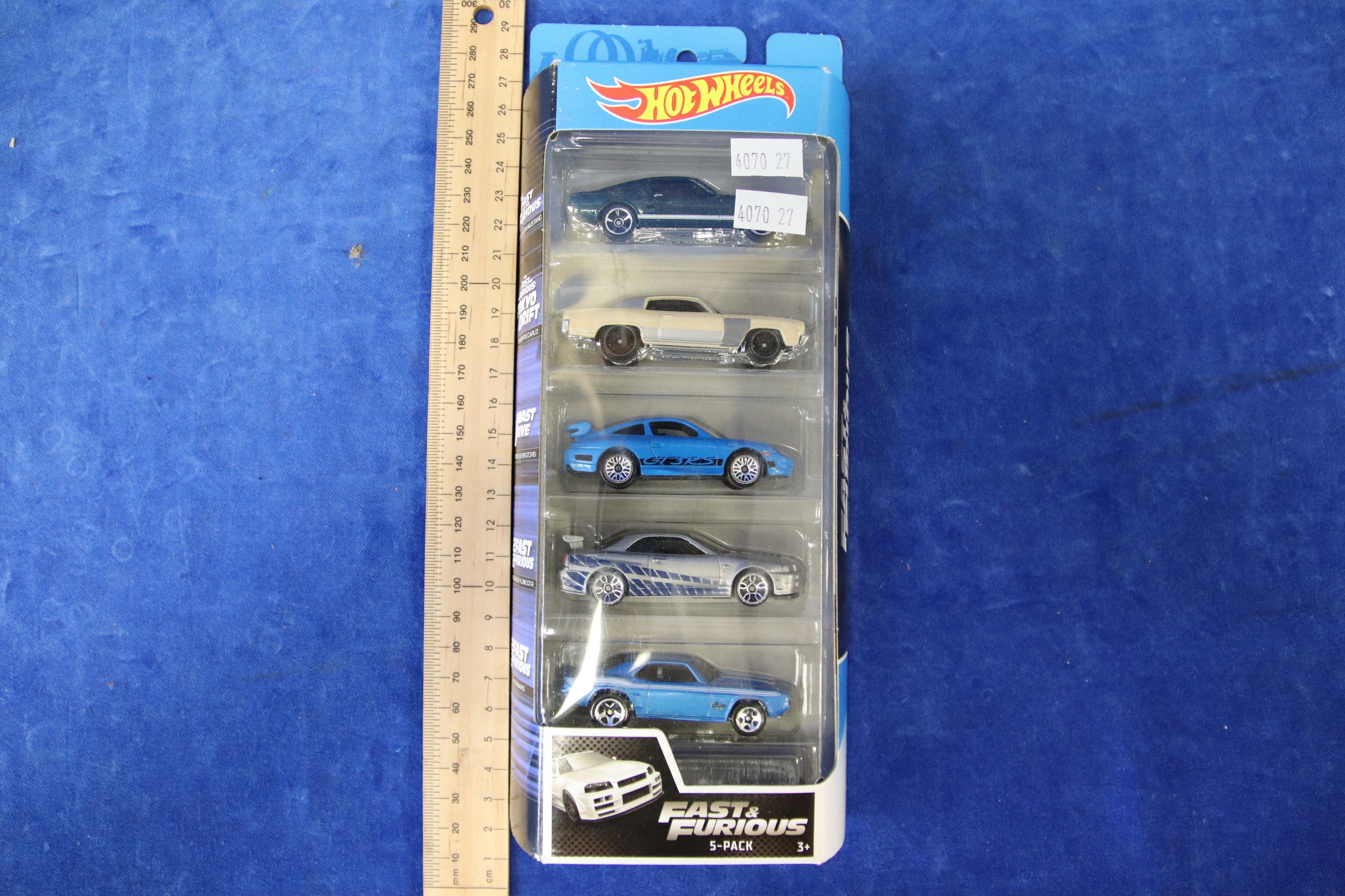 HOTWHEELS FAST & FURIOUS 5 PACK OF MODEL CARS
