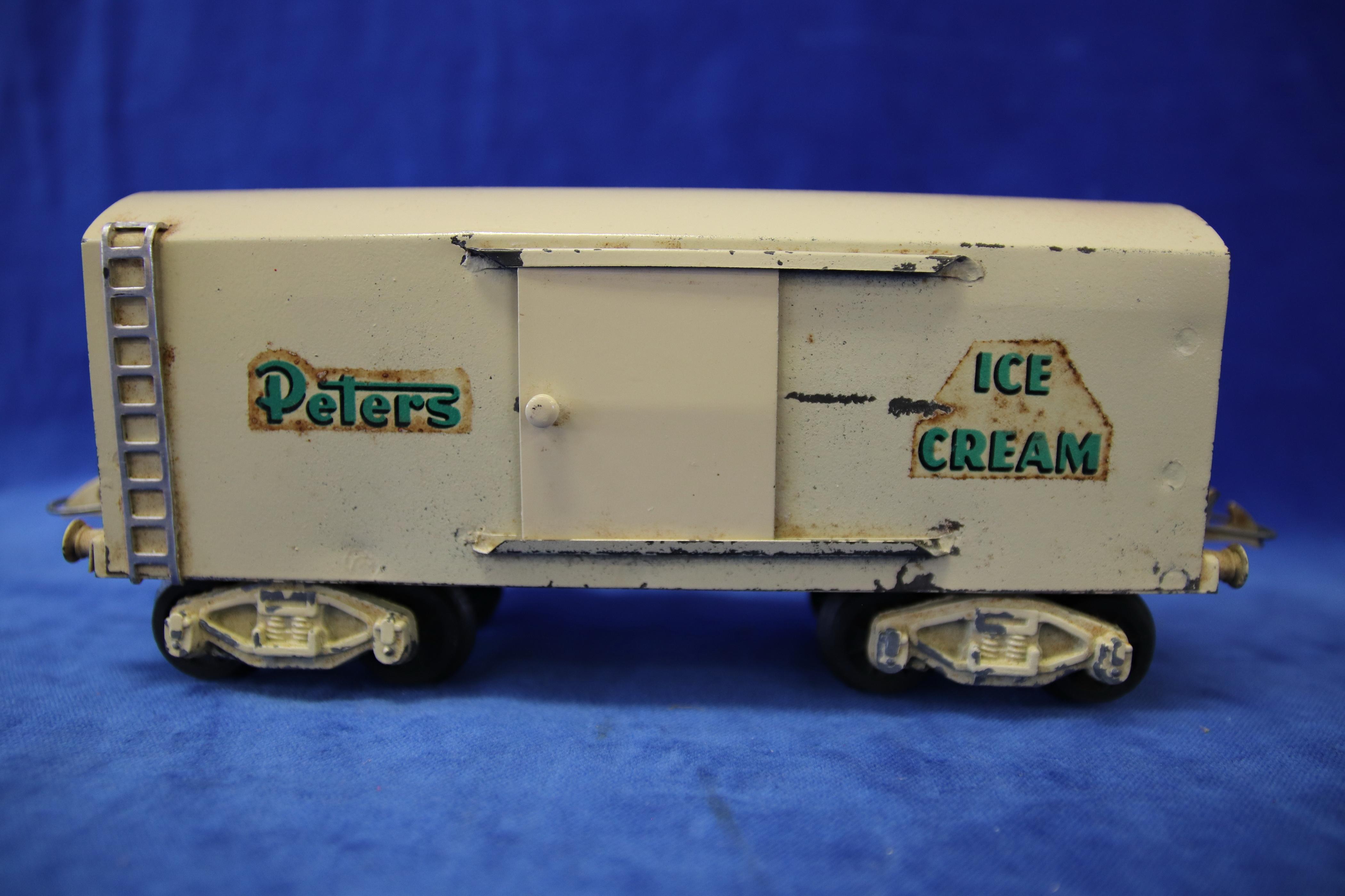 ROBILT O GAUGE PETERS ICE CREAM BOGIE GOOD VAN