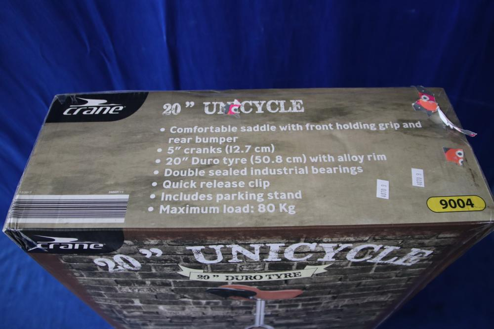 "2 X 20"" UNICYCLES LOOK TO BE AS NEW IN BOXES"