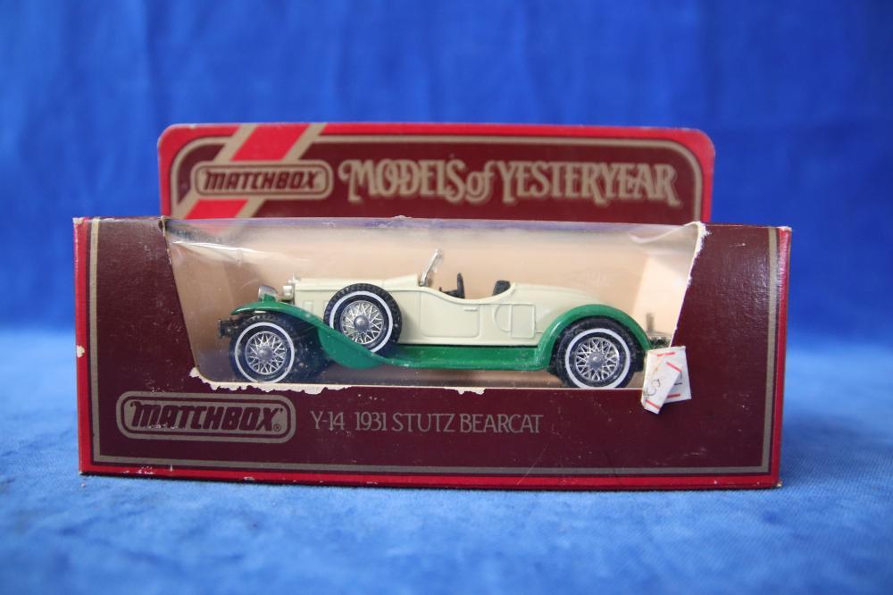 13 MATCHBOX MODELS OF YESTERYEAR MODEL CARS