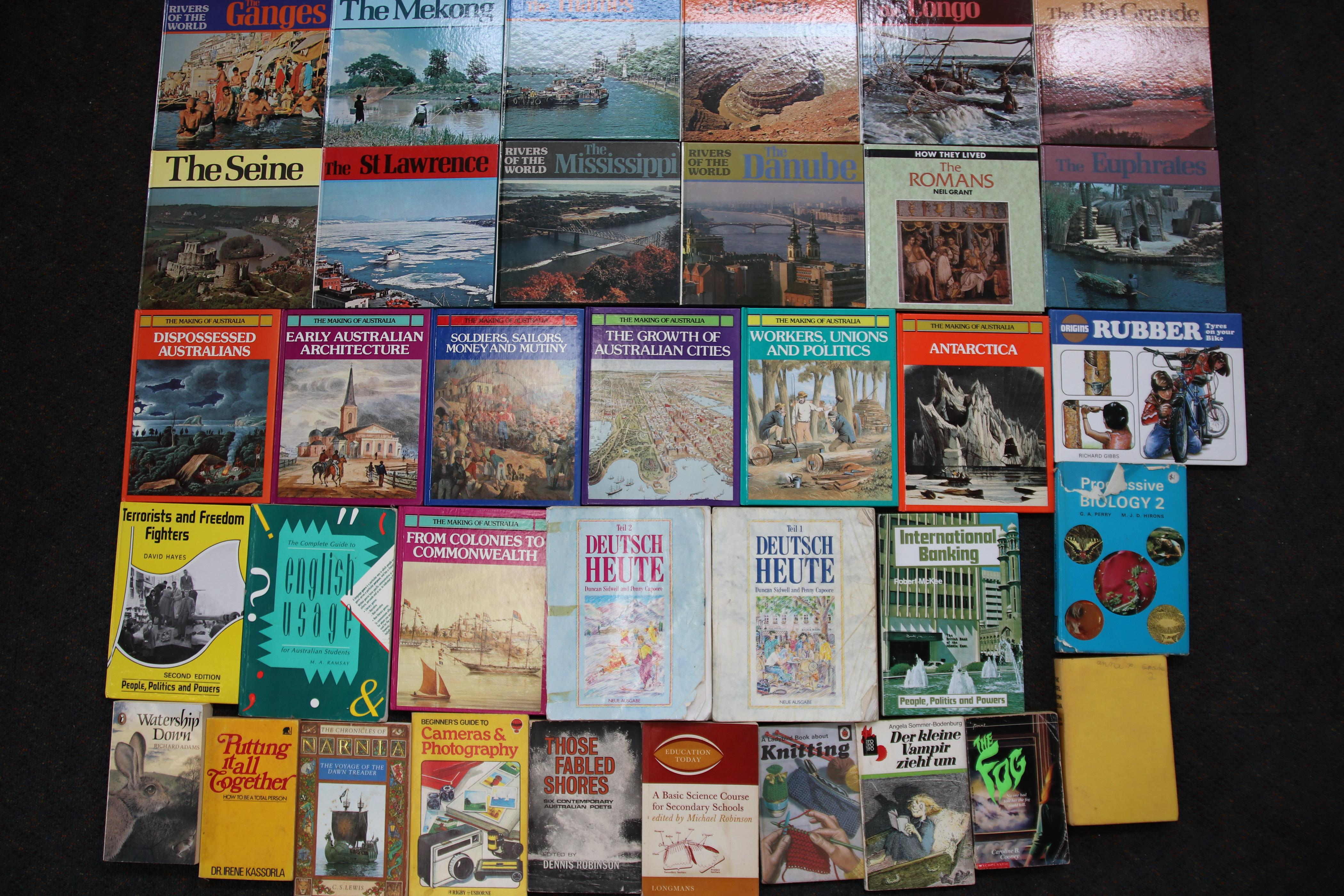 2 BOXES WITH EARLY CHILDHOOD AND EARLY HIGH SCHOOL READING NOVELS