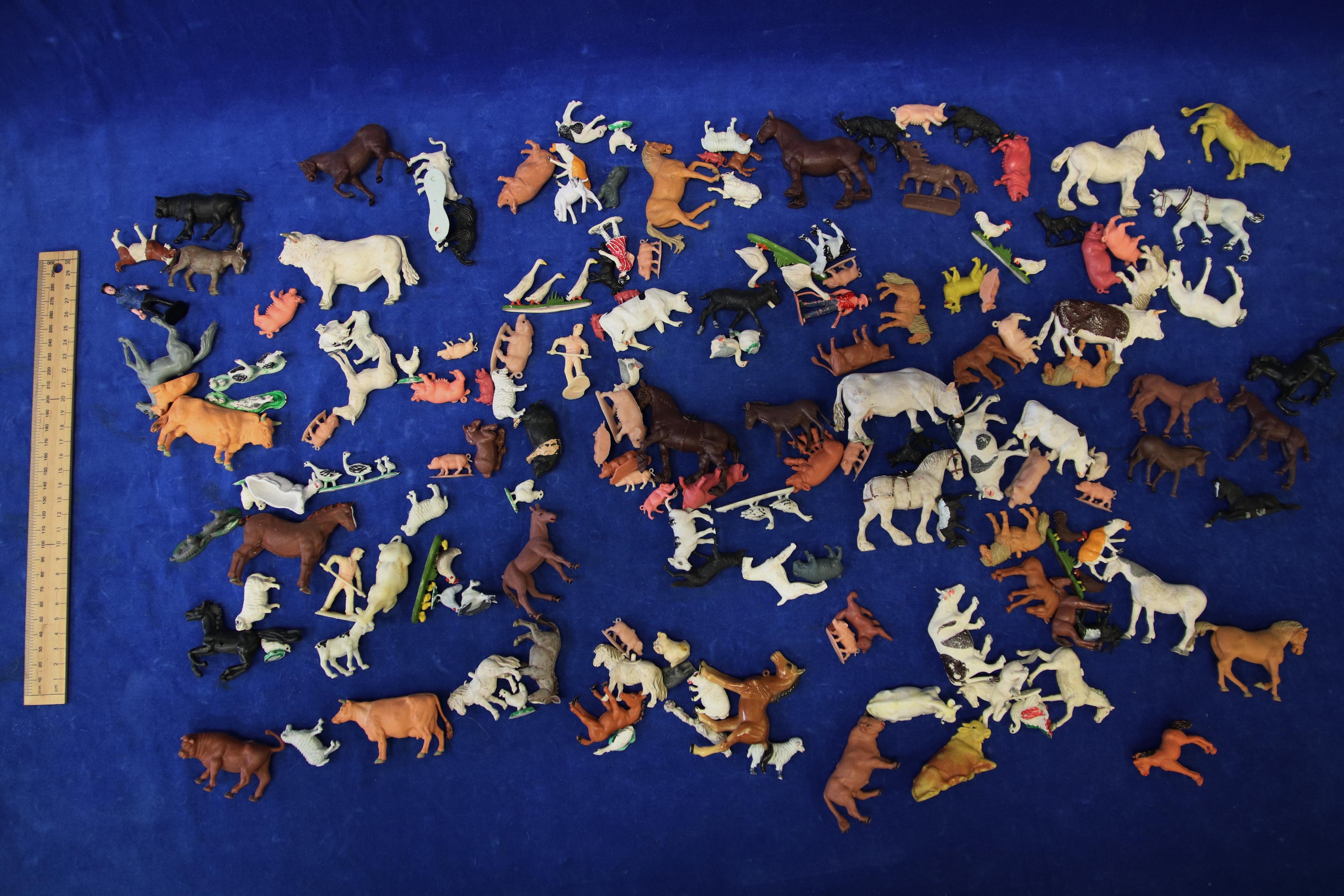 157 MISC FARM ANIMAL FIGURES