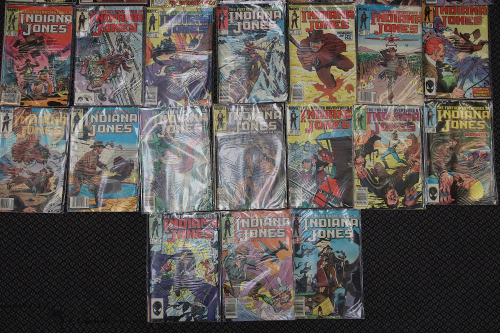 SELECTION OF MARVEL COMICS THE FURTHER ADVENTURES OF INDIANA JONES