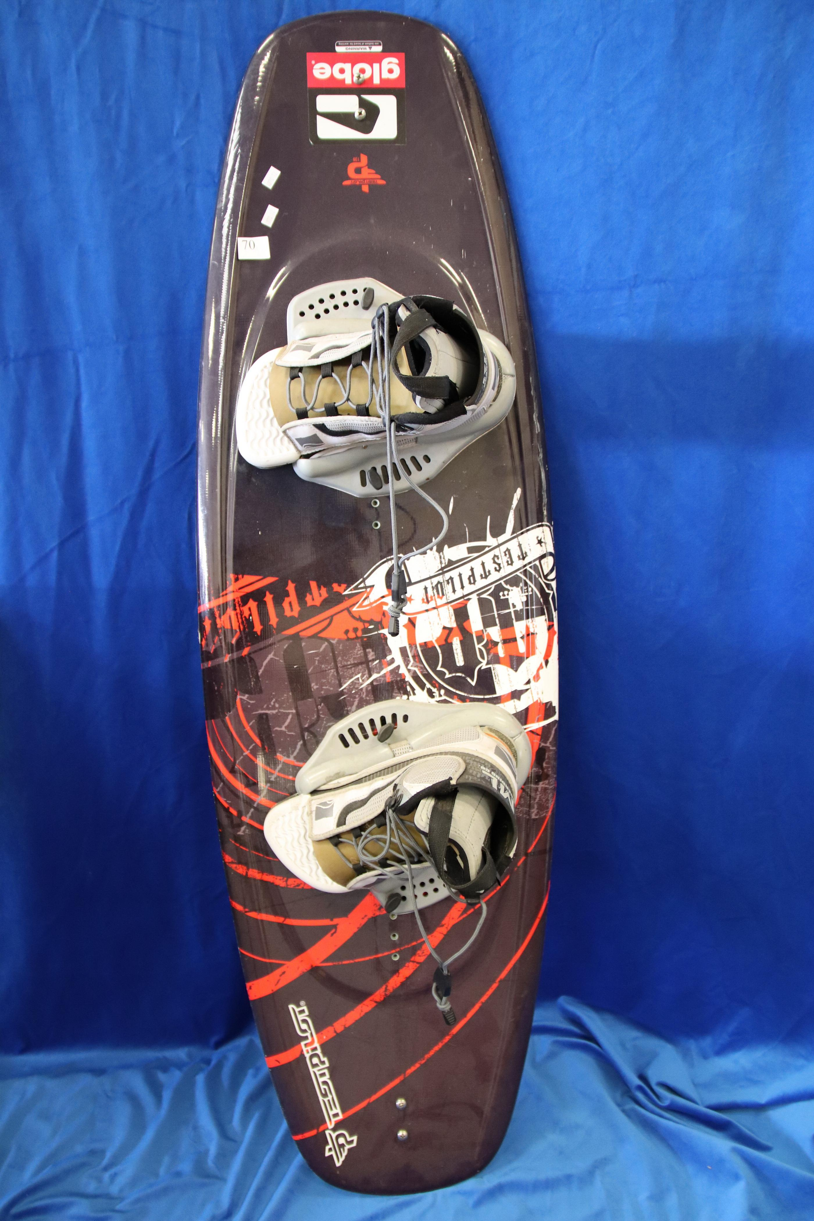TESTPILOT WAKEBOARD, WITH REVERT ML BOARDING CO BOOTS,SIZE ML